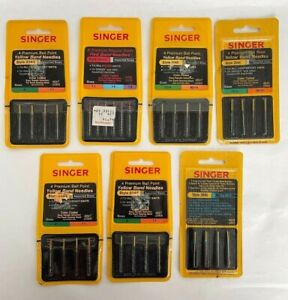 Lot of 7 Vintage Singer Sewing Machine Needle Packs Styles 2045 amp; 2020 NEW $14.99