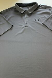 Mens New Under Armour Golf Polo shirt 3XL 27 x 33 XXXL Gray $19.99