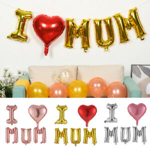 DIY Gifts Aluminum Foil Balloon Mom Family Party I Love MUM Happy Mothers Day