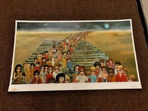 Walter Keane Margaret Tomorrow Forever Vintage Litho Large Print 21 3 4quot; x 37quot; $32.00