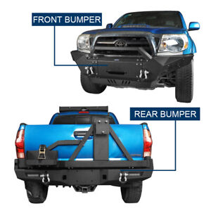 Front Bumper Rear Bumper w Winch Plate Tire Carrier for Toyota Tacoma 05 15 $1199.99