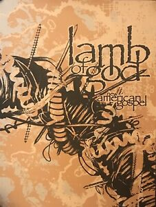 Lamb Of God New American Gospel 18x24 Numbered 16 115 Lithograph Poster $70.00