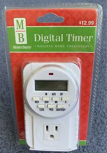 MerryBrite Digital Timer Electrical 7 Day Digital Timer with LCD Display New