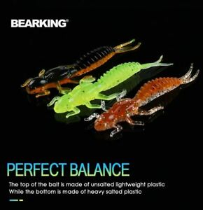 BEARKING new Larva Soft Lures 50mm 60mm Fishing Artificial Lures
