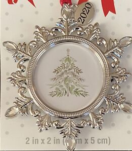 Christmas Tree Ornament 2020 Photo Picture Frame Delicate Snowflake