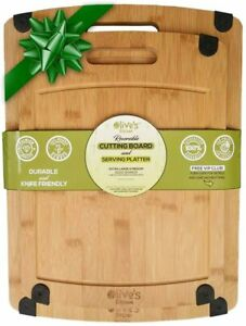 Olives Kitchen Organic Bamboo Cutting Board Set Reversible Bamboo Cheese Boards