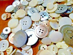 Lot 520 Shell Mother of Pearl Buttons Crafts Bulk Sewing Scrapbooking B323 12 $5.95