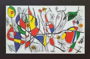 Joan Miro quot;The Sunday Guestquot; Mounted Color offset Lithograph Limited ed 1972 $39.00