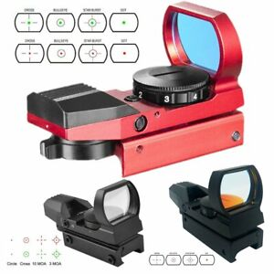 Tactical Red Green Dot Reflex Sight Scope Holographic 4 Reticles Picatinny Rail