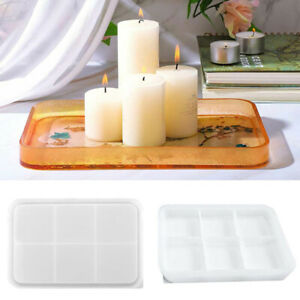 Silicone Large Tray Resin Casting Mold Epoxy Resin DIY Mold Craft Rectangle Mold $23.27