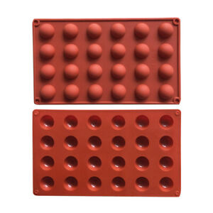 24 Cavities Rectangle Soap Mold Cake Baking Silicone Mould For Candy Chocolate $7.49