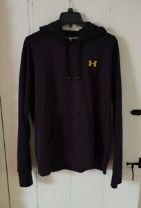 Under Armour Cold Gear Hoodie Black And Yellow Logo Mens Size XL Extra Large $30.99