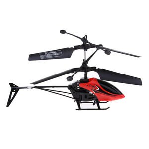 2CH Radio Remote Control LED Lights RC Helicopter Drone Aircraft Flying Toys