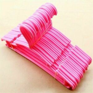 Pink Plastic Childrens youth Clothes hangers 12 pack Made in USA