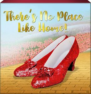 Spoontiques Ruby Slippers No Place Like Home Box Sign 6 x 6