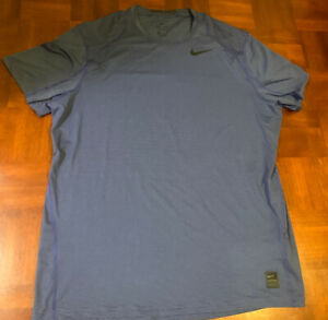 Nike Pro Fitted Training Dri Fit Shirt XXL Fitted Dark Gray Workout Top $23.99