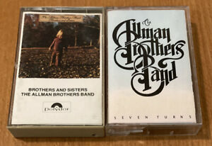 The Allman Brothers Band 2 Cassette Lot Brothers and Sisters amp; Seven Turns