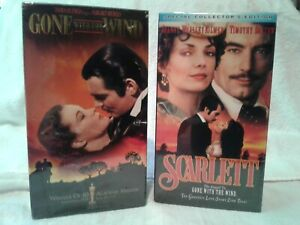 NOS quot; GONE WITH THE WIND quot; amp; quot; SCARLETT quot; VHS MOVIES double sets classics love $12.99