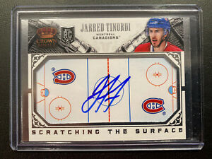 2013 14 CROWN ROYALE JARRED TINORDI SCRATCHING THE SURFACE ROOKIE AUTO 🏒🔥💪