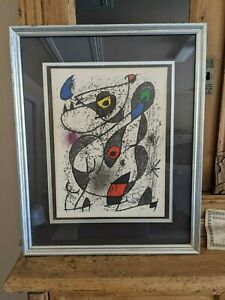 Joan Miró signed Lithograph A L#x27;Encre II 1972 Stone Lithograph 14 × 10 1 2 in $800.00