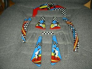1975 Gottlieb Spin Out Pinball Plastic set New Reproduction $99.00