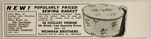 1931 Print Ad Sewing Baskets Premiums Weinman Brothers ChicagoIllinois $8.98