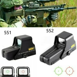 Upgrade Red Green Dot Holographic Sight 551 552 Tactical Airsoft Scope Sight