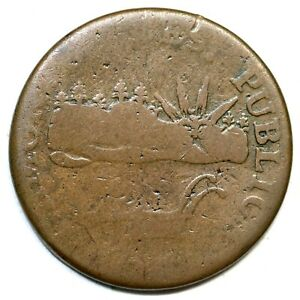 1785 RR 2 R 3 VERMONTS Vermont Colonial Copper Coin $525.00