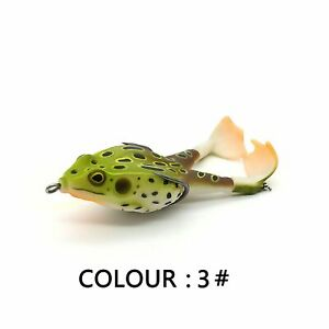Double Propeller Frog Soft Baits Shad Lure Jigging Fishing Topwater Catfish...