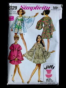 Simplicity 1960's Size Small 8 10 Vintage Dress Two Lengths Vintage Sewing $15.00