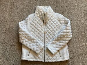 Marc New York Andrew Marc Quilted Puffer Jacket White Zip Up Womens XXL $27.00