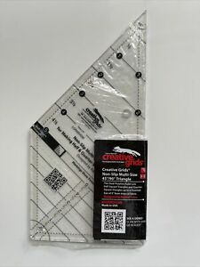 Creative Grids Multi size 45° amp; 90° Triangle Sewing and Quilting Ruler $21.00