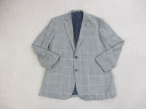 Brooks Brothers Blazer Mens 44 White Blue Jacket Coat Casual Mens 44 A05 $28.88