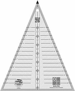 Creative Grids Spider Web Triangle Quilting Clear Ruler Template CGRKA6 $24.49