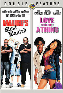 MALIBU#x27;S MOST WANTED amp; LOVE DON#x27;T COST A THING Double Feature DVD $6.95