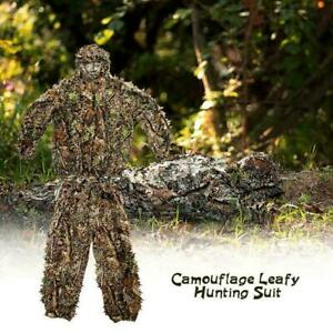 Hunting Clothes New 3d Maple Leaf Ghillie Bionic Suits J9T6