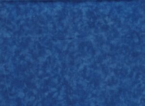 100% Quilting Sewing Cotton Fabric ROYAL BLUE Blended Marble Mottled BTY $11.25