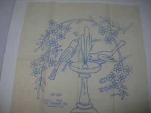 VINTAGE PRESTAMPED MUSLIN 18quot; SQUARE FOR EMBROIDERY CROCHET QUILTING CAROL ART N $17.99