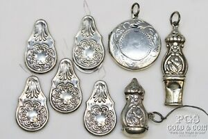 Heirloom REO Sterling Silver Sewing Set Replica Repousse Art Nouveau 41.2gr21598 $118.00