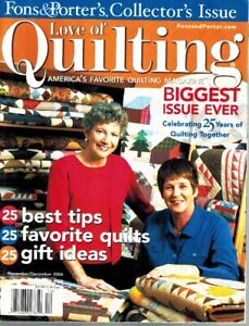 FONS AND PORTER#x27;S LOVE OF QUILTING MAGAZINE COLLECTOR#x27;S ISSUE NOVEMBER DECEMBER $8.99
