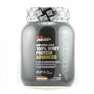 GNC AMP Gold Series 100% Whey Protein Advanced 30 Servings CookiesCreamEX:05 21 $19.99