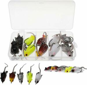 10PCS 3D Realistic Fishing Lure Artificial Fishing Soft Lure Topwater Lures Bait