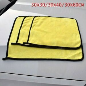 1 Piece Yellow Car Cleaner Towel Cleaning Cloth Rag Dry Fiber Mold proof
