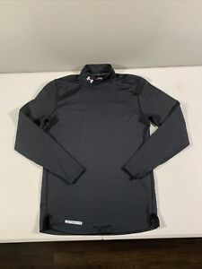 Men's Under Armour Cold Gear Long Sleeve Mock Neck Fitted Shirt Size M Black $16.99