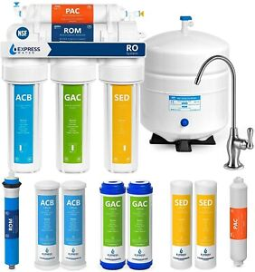 Express Water RO5DX Reverse Osmosis Filtration NSF Certified 5 Stage RO System $204.99