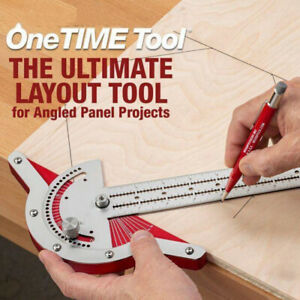 US 1PCS Woodworker Edge Rule Protractor Angle Two Arm Carpentry Ruler Tools $19.99