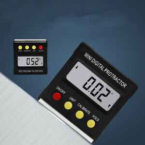 Cube Digital LCD Gauge Electronic Level Magnetic Angle Finder Inclinometer Meter $14.99