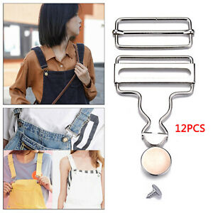 12x Overall Suspender Buckles Gourd Button Sewing Jeans Accessories Craft C $12.72