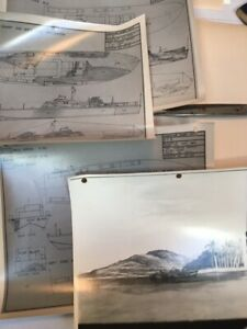 4 CAMOUFLAGE DESIGN SHEETS US Navy WW2 USS PT Boats