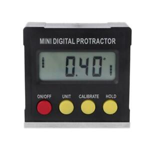 360 Degree Digital Protractor Inclinometer Electronic Level Box Magnetic Base $11.30